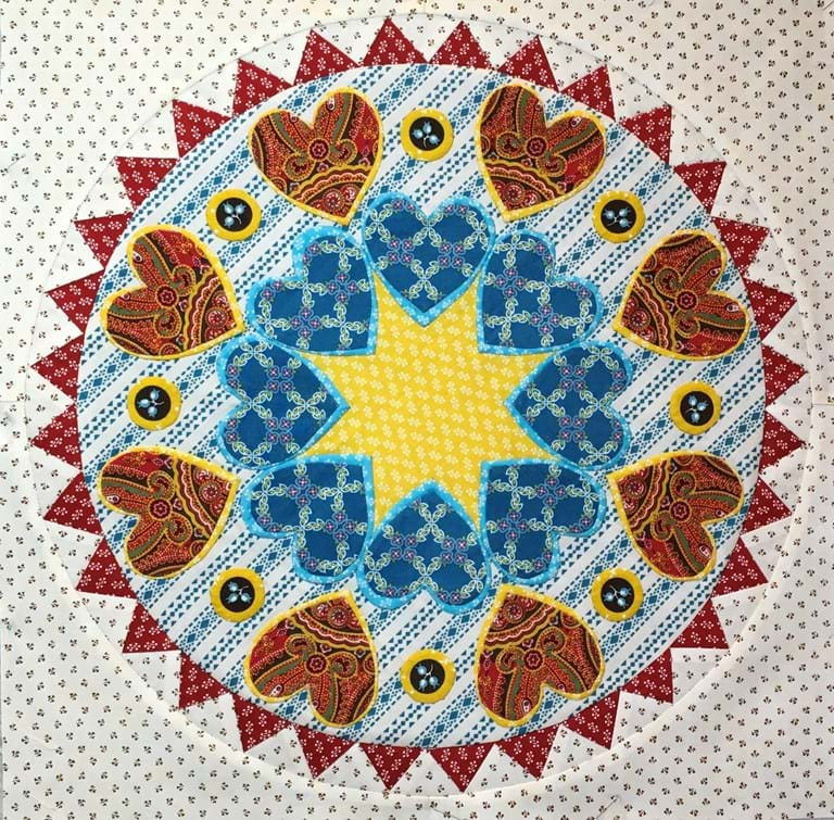 Hearts All Around - Torrington Place, 2017 Quiltmania Mystery Quilt