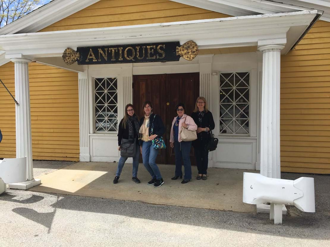 Dianne & her friends outside the antique store.