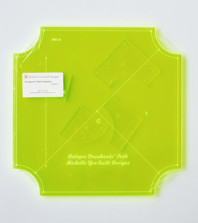How To Use Acrylic Quilting Templates : Drunkard s Path Templates - Michelle Yeo Quilt Designs